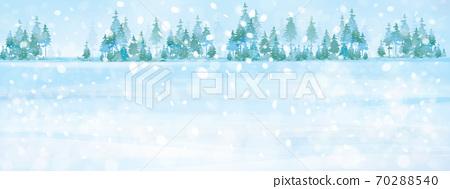 Vector winter background. Winter snowy landscape. 70288540