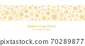 Decorative Christmas background with bokeh lights and snowflakes. 70289877