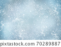 Decorative Christmas background with bokeh lights and snowflakes. 70289887