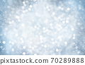 Decorative Christmas background with bokeh lights and snowflakes. 70289888