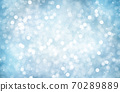 Decorative Christmas background with bokeh lights and snowflakes. 70289889