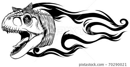 dinosaurus carnosaur head art vector illustration design 70290021