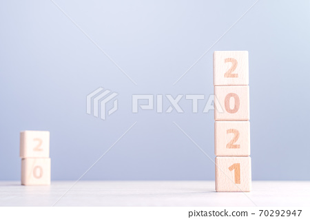2020 新年 未来 目标 挑战 木块 future goal plan ハッピーニューイヤー 70292947
