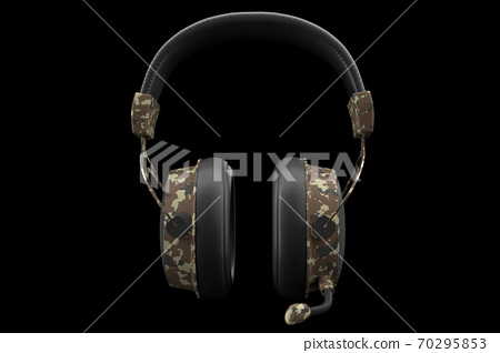 3D rendering of gaming headphones with microphone for cloud gaming and streaming 70295853