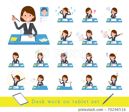 flat type business women_Study tablet 70296516