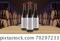 Wine bottles mock up copy space Template for advertising design branding identity 70297233