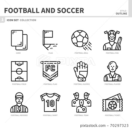 football and soccer icon set 70297323