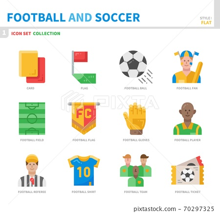 football and soccer icon set 70297325