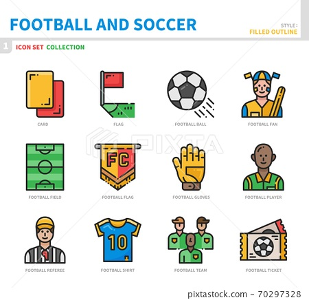 football and soccer icon set 70297328