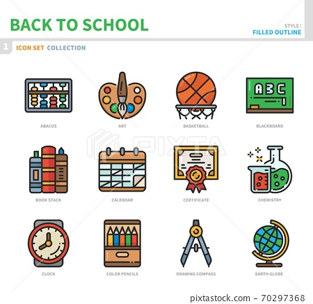 back to school icon set 70297368