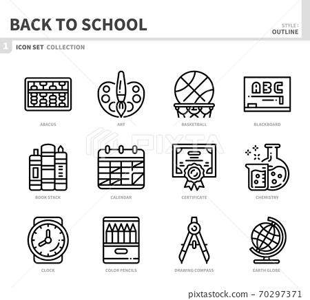 back to school icon set 70297371