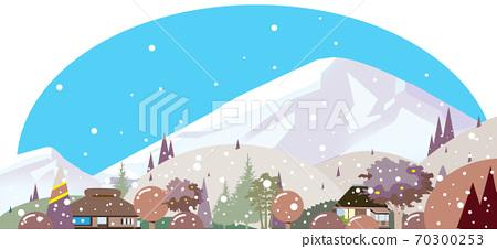 시골의 겨울 풍경 70300253