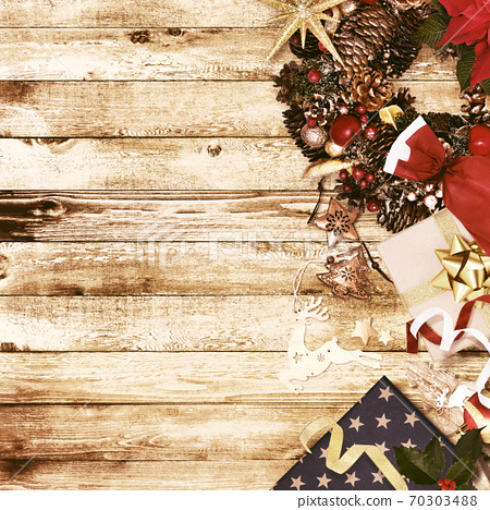 Christmas-inspired vintage background-there are multiple variations 70303488
