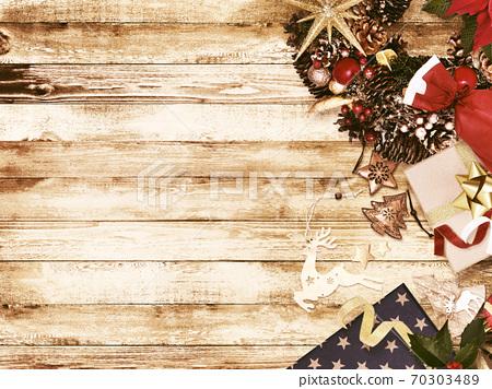 老式圣诞节风格的背景-有多种变化 70303489