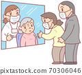 通过老人设施(祖母)的玻璃参观 70306046