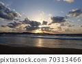 Shiranami Tatsu Beautiful sunset over the Sea of Japan 70313466