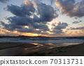 Beautiful sunset over the sea of Tango, Shiranami 70313731