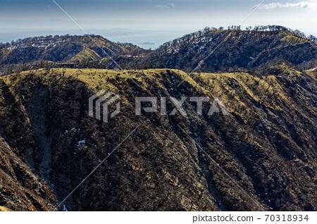 蛭ヶ岳에서 볼 丹沢山 · 주맥 종주로와 쇼난의 바다 70318934