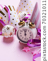 card with christmas decoration in pink background 70321011