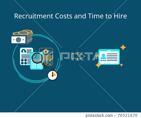 recruitment cost and time to hire vector 70321870