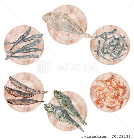 木制板的海鲜汤配料的插图 70322131