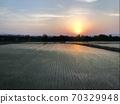 신칸센에서 볼 시골 풍경 70329948