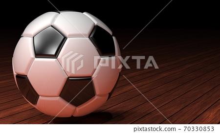 축구 공의 3D 일러스트 70330853