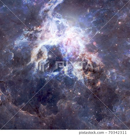 Nebula and stars in cosmos space. Elements of this image furnished by NASA 70342311