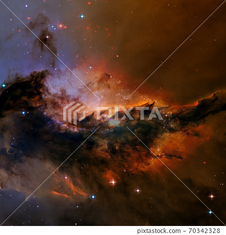 Deep space. Elements of this image furnished by NASA 70342328