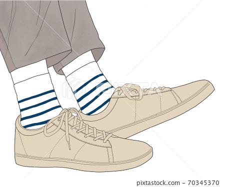 腳穿運動鞋 70345370