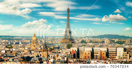 View of Paris and the tower 70347834