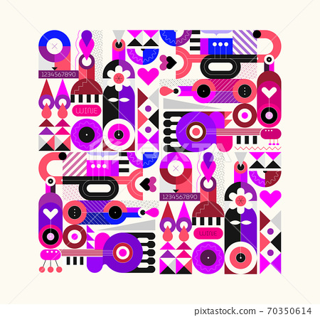 Abstract Art vector illustration 70350614