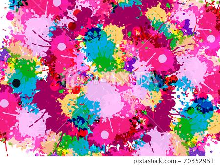 abstract vector multi splatter color design background. illustration vector design 70352951