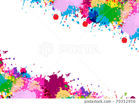 abstract vector splatter multi color design isolated background. illustration vector design 70352956