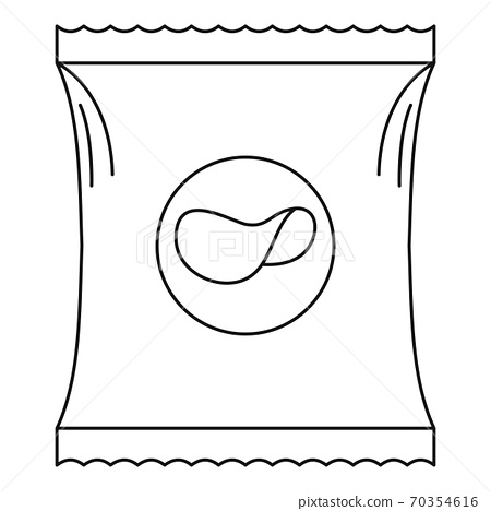 Potato chip icon, outline style. 70354616