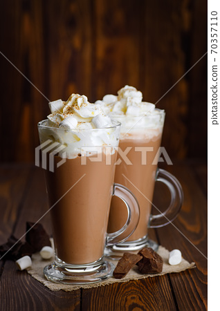 hot chocolate with whipped cream 70357110