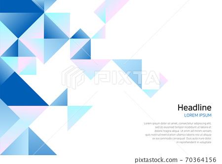 業務演示背景圖案-三角形圖案 70364156