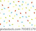Confetti background illustration 70365170