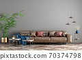 Interior design of modern apartment, living room with sofa 3d rendering 70374798