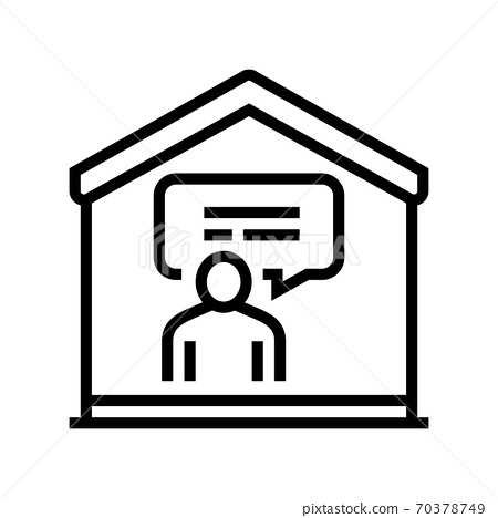 talking and communication line icon vector illustration 70378749
