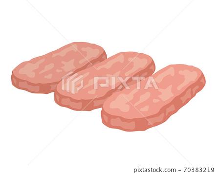 Luncheon meat illustration 70383219