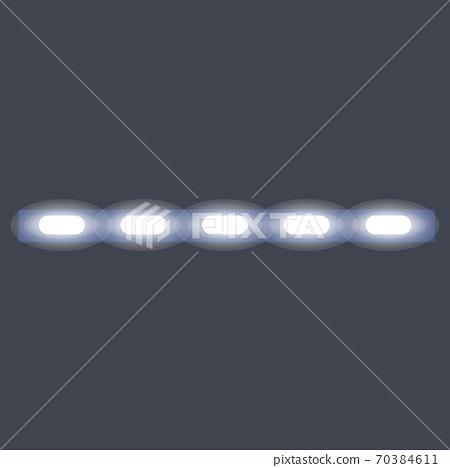 Modern led strip lights icon, cartoon style 70384611