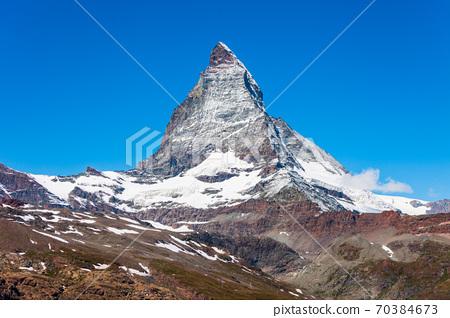 Matterhorn mountain range in Switzerland 70384673