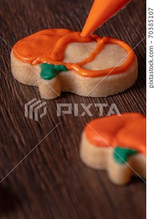 萬聖節 裝飾 餅乾 南瓜 繪畫 Decorating cookie ハロウィン クッキー かぼちゃ 70385107