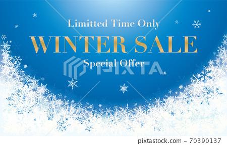 눈송이 겨울 세일 광고 winter sale advertisemnt snowflake 70390137