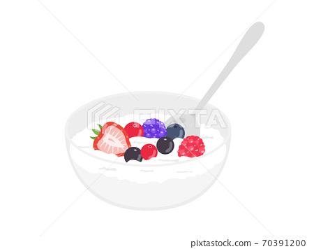 水果酸奶的插圖 70391200