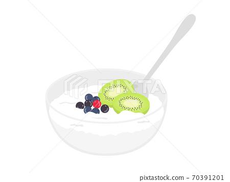 水果酸奶的插圖 70391201