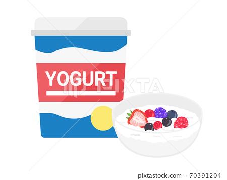 水果酸奶的插圖 70391204