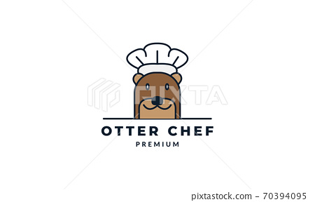 otter cooking vector illustration design 70394095