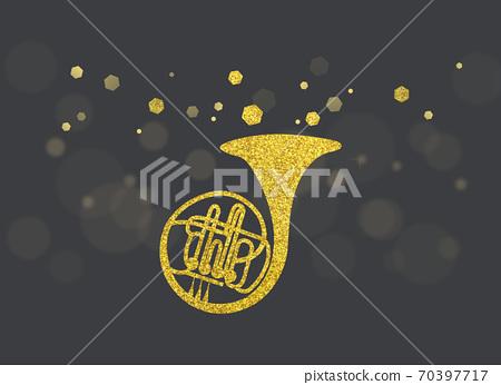 金色閃光插圖角 70397717